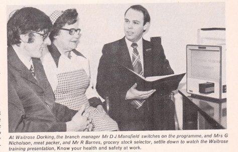 Training aid for Waitrose managers