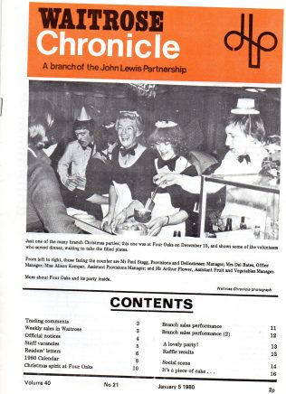 My time with Waitrose in the 1970s