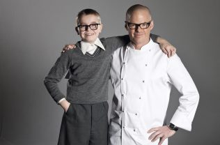Heston Blumenthal  & young Heston | Connections/Waitrose Chronicle